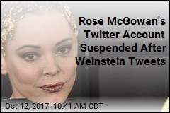 Amid Firestorm of Weinstein Tweets, Rose McGowan's Account Suspended
