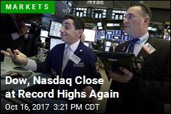 Dow, Nasdaq Close at Record Highs Again