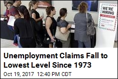 Unemployment Claims Fall to Lowest Level Since Nixon