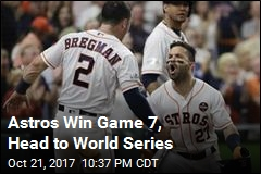 Astros Win Game 7, Head to World Series