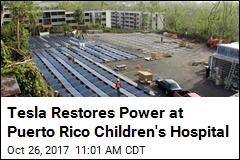 Power Restored at Puerto Rico Hospital, Thanks to Tesla