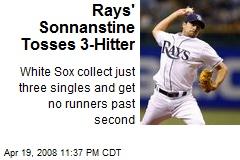 Rays' Sonnanstine Tosses 3-Hitter