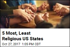 5 Most, Least Religious US States