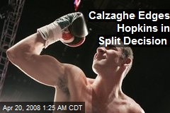 Calzaghe Edges Hopkins in Split Decision
