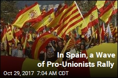 In Spain, a Wave of Pro-Unionists Rally