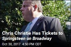 Chris Christie Has Tickets to Springsteen on Broadway