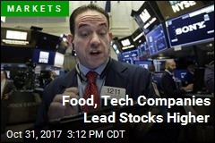 Food, Tech Companies Lead Stocks Higher