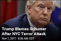 Trump Blames Schumer After NYC Terror Attack