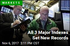 All 3 Major Indexes Set New Records