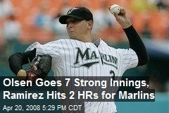 Olsen Goes 7 Strong Innings, Ramirez Hits 2 HRs for Marlins
