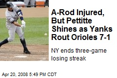 A-Rod Injured, But Pettitte Shines as Yanks Rout Orioles 7-1