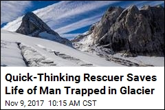 He Spent 5 Days Trapped in a Glacier. Finally, a Rescue