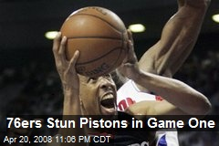 76ers Stun Pistons in Game One