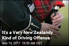Driver to Cop: I Was Playing 'Air Bagpipes'