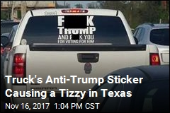 Texas Sheriff Mentions Charges Over Anti-Trump Sticker