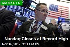 Nasdaq Closes at Record High