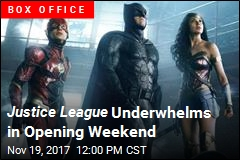 Justice League Underwhelms in Opening Weekend