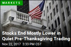Stocks End Mostly Lower in Quiet Pre-Thanksgiving Trading