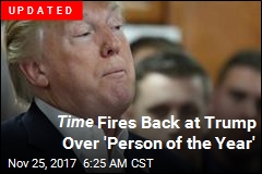 Trump Takes Jab at Time Magazine