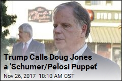 Trump Calls Doug Jones a 'Schumer/Pelosi Puppet'