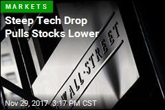 Steep Tech Drop Pulls Stocks Lower