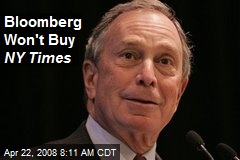 Bloomberg Won't Buy NY Times