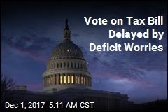 Vote on Tax Bill Delayed by Deficit Worries