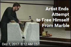 Artist Freed After 19 Days Chained to Marble Block