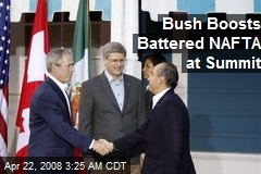 Bush Boosts Battered NAFTA at Summit