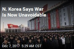 N. Korea Says War Is Now Unavoidable