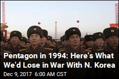 Pentagon in 1994: Here's What We'd Lose in War With N. Korea