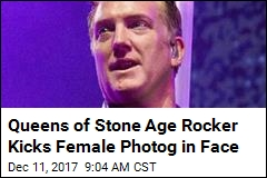 Queens of Stone Age Rocker Kicks Female Photog in Face