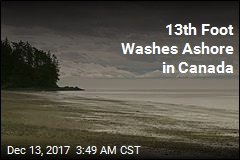 13th Foot Washes Ashore in BC