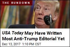 USA Today : 'Rock Bottom' Trump Will Always Sink Lower