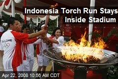 Indonesia Torch Run Stays Inside Stadium
