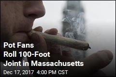 Marijuana Advocates Roll 100-Foot Joint