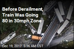 Before Derailment, Train Was Going 80 in 30mph Zone