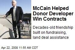 McCain Helped Donor Developer Win Contracts