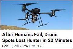 After Humans Fail, Drone Spots Lost Hiker in 20 Minutes