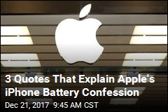 3 Quotes That Explain Apple's iPhone Battery Confession