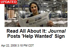 Read All About It: Journal Posts 'Help Wanted' Sign