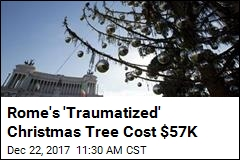 Rome Spent $57K on This Sad Christmas Tree; Twitter Reacts
