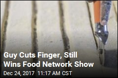 Guy Cuts Finger, Still Wins Food Network Show