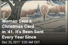 Christmas Card Sent Back and Forth Since 1941