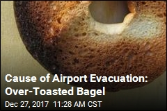 Cause of Airport Evacuation: Over-Toasted Bagel