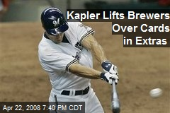 Kapler Lifts Brewers Over Cards in Extras