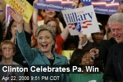 Clinton Celebrates Pa. Win