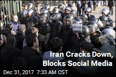 Iran Cracks Down, Blocks Social Media