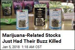 Pot-Related Stocks Plummet After Sessions Announcement