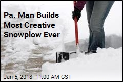 He Had a Ton of Snow and a Shovel. Then, a Better Idea